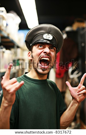 stock photo adult man in military service cap shouting 8317672 One simple step Ð which takes seconds to do Ð can help pregnant women keep ...