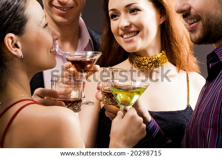 Adults enjoy alcoholic beverages
