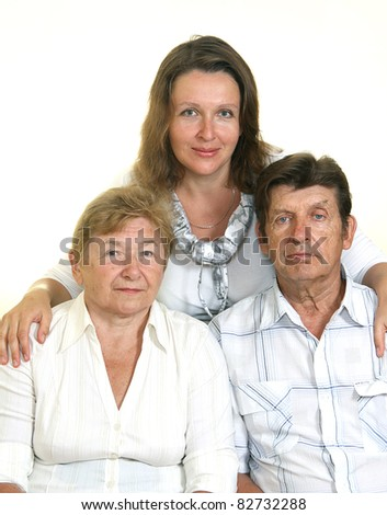 Adults parents with daughter