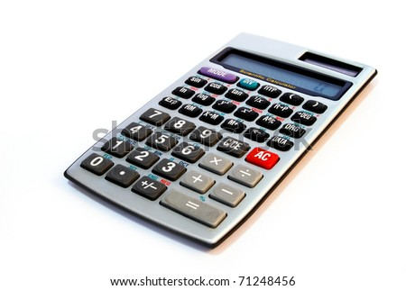 advance calculator isolated on white background