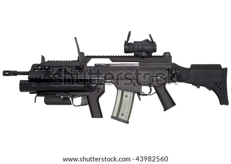 Advanced Automatic Weapon G36 In Armament Of German Army. Stock ...