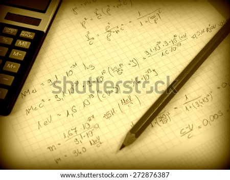Advanced physics and maths notes (handwriting) Images and