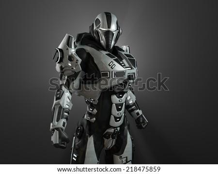 Stock Photo Advanced super soldier
