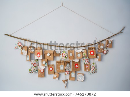 advent calendar with small gifts