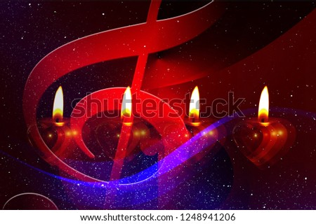 Advent Sing Christmas Songs Candles The Light #1248941206