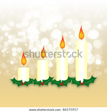 Advent wreath of four candles
