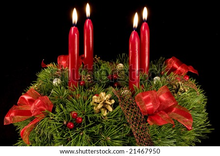 450 x 320 jpeg 54kB, Stock-photo-advent-wreath-with-red-candles-four ...