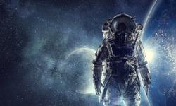 Adventure of spaceman. Mixed media
