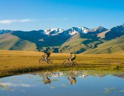 adventure on the mountain bike