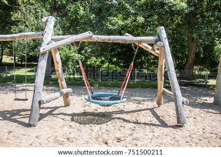 Adventure playground with wooden frames and wire ropes #751500211