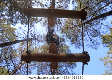 adventure trail high rope course  #1564098982