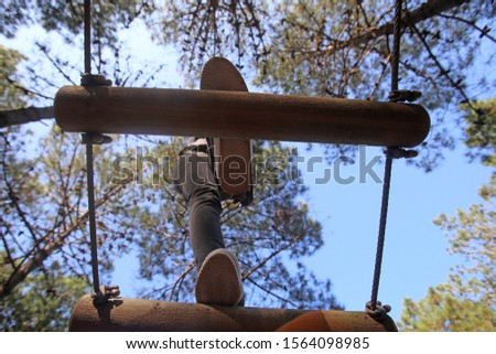 adventure trail high rope course  #1564098985