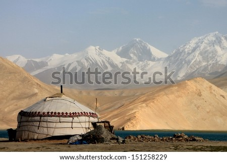 Karakul Lake Pamir Karakul Lake Stock Photo