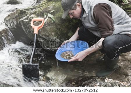Adventures on river. Gold panning, moody instagram look