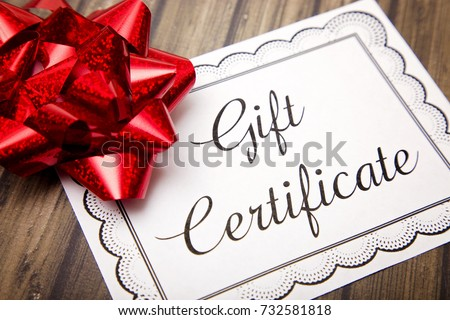 Advertisement for Gift Certificates #732581818