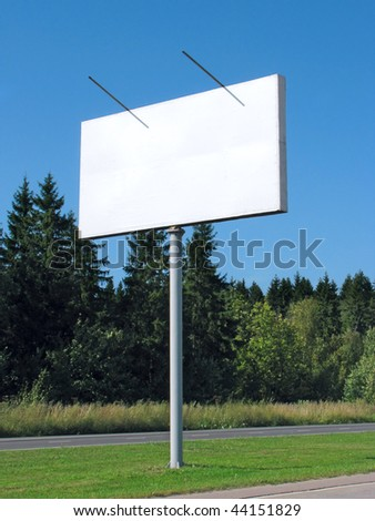 Advertising board with blanc space - roadside