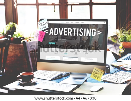 Advertising Campaign Promote Branding Marketing Concept - Shutterstock ID 447467830