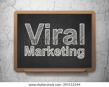 Advertising concept: Viral Marketing on chalkboard background #395112544