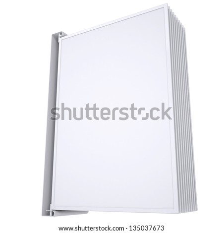 Advertising element to turn the page. Isolated render on a white background