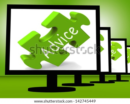 Advice On Monitors Shows Public Guidance Or Recommendations - stock photo
