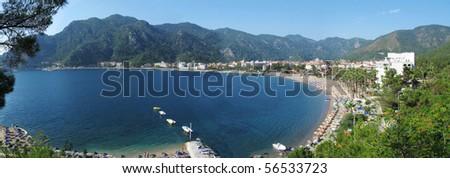 aegean sea landscape panorama of marmaris resort turkey