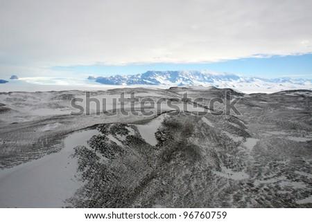 Aerial antarctic landscape