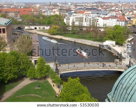Aerial bird eye view of the city of Berlin, Germany