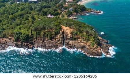 Aerial. Blow Hole (Hummanaya). Dikwella, Sri Lanka.