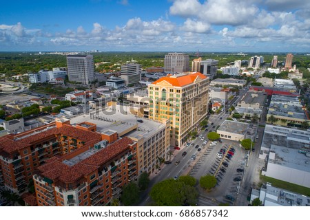 Aerial drone image of Coral Gables Miami FL