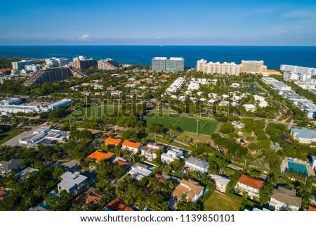 Aerial drone image of Key Biscayne Florida USA #1139850101