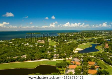 Aerial drone photo Ocean Reef Club Key Largo Florida an upscale neighborhood #1526780423