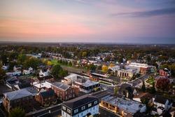 Aerial Drone Sunrise in Souderton Pennsylvania