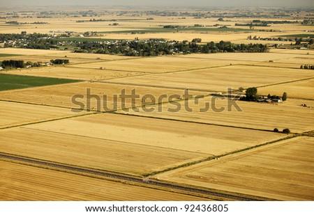 Aerial farmland - stock photo