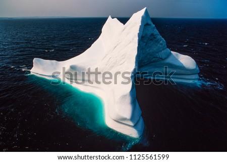Aerial image of iceberg, Newfoundland, Canada