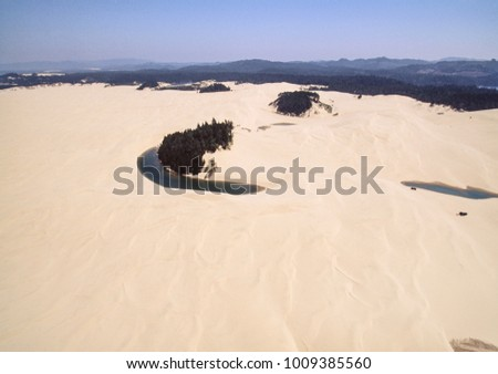 Aerial image of Oregon Dunes National Recreation Area,  Oregon, USA #1009385560