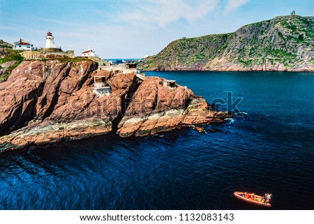 Aerial image of St. John's, Newfoundland, Canada