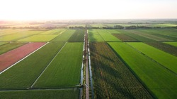 Aerial images of the beemster in north holland, the netherlands