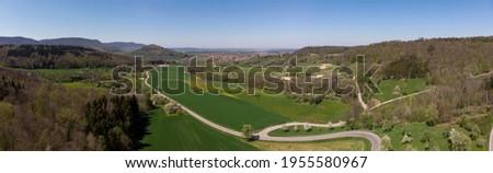 Aerial impressions of the Swabian Alb Imagine de stoc ©