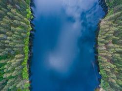 Aerial Karelia view, Russia