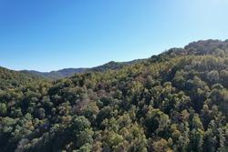 Aerial Mountain Side View Appalachian Mountains