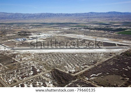 Aerial of Airport in Thermal, California