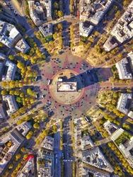 Aerial of Arc de Triumph