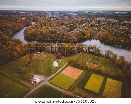 Aerial of East Brunswick New Jersey #751103323