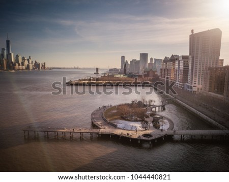Aerial of Hoboken NJ #1044440821
