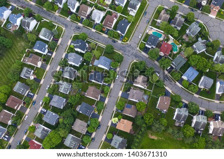 Aerial of Homes in New Jersey #1403671310