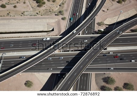 Aerial of Interchange #72876892