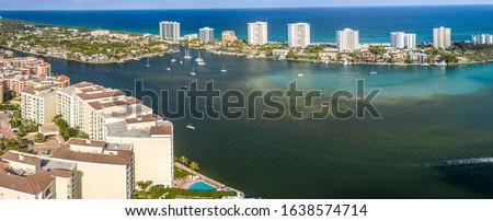 Aerial of Lake Boca Raton Florida  Foto stock ©
