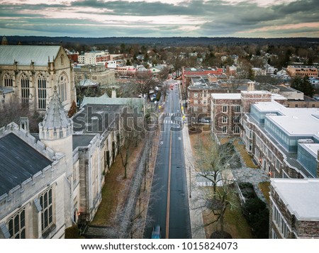 Aerial of Princeton New Jersey #1015824073