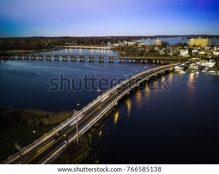 Aerial of Red Bank NJ Sunset #766585138