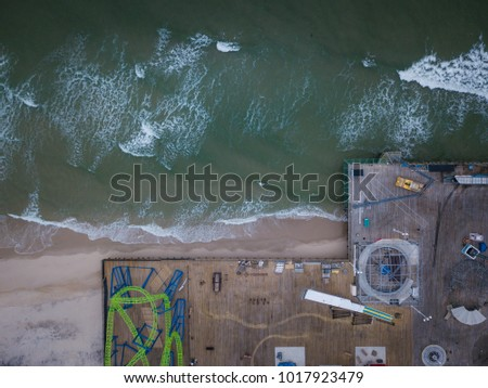 Aerial of Seaside Park New Jersey #1017923479